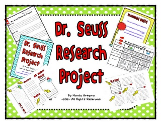 Read Across America Day Research Project $3.00