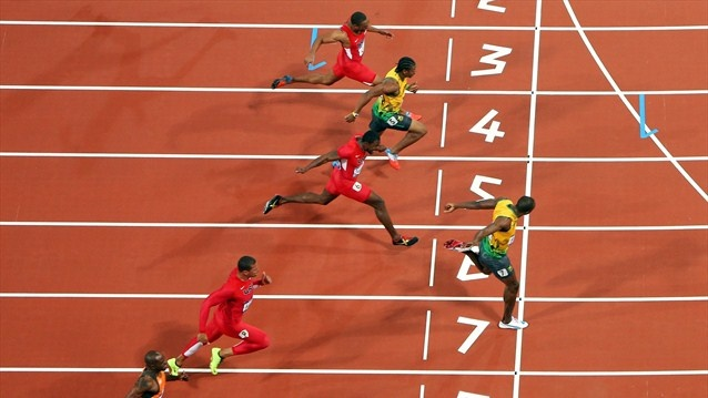 Usain Bolt has again won the Olympic men's 100m final. There was some doubt about his fitness going into the event however he showed no signs of this winning in a new Olympic record time of 9.63. This was the second fastest time in history. Bolt holds the world record at 9.58 which he set when winning the world championship title in Berlin in 2009. Bolt's training partner and fellow Jamaican won the silver in 9.75 with 2004 Olympic champion Justin Gatlin taking the bronze - London 2012…