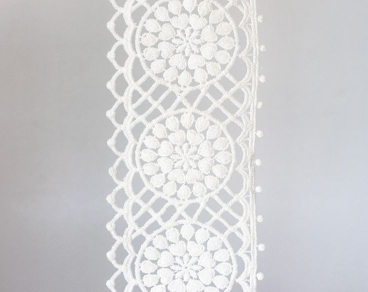 2001_Off white ribbon lace 9mm, Delicate lace trim, White lace border, Wedding lace ribbon, White floral lace, Floral lace border_1.8 m. by PurrrMurrr on Etsy