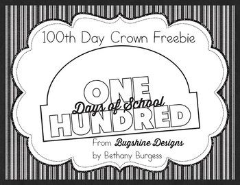 39 best images about 100 day on pinterest bingo for 100th day of school crown template
