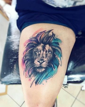 Realistas Tatuajes De Leones A Color Con Mas De 50 Detalles