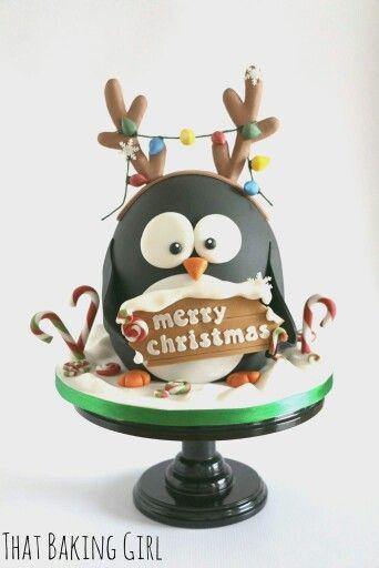 Christmas Penguin cake More
