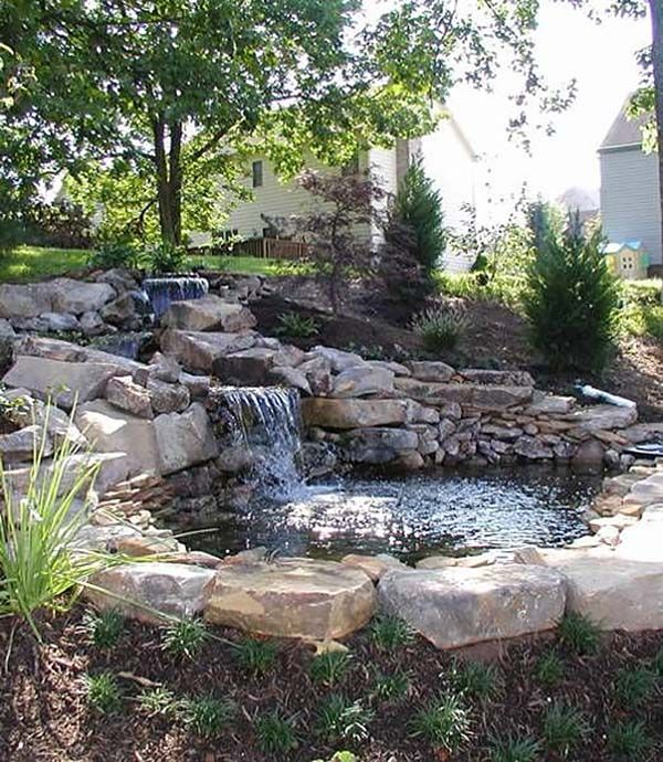 1390 best images about water ponds fountains dry creek for Yard waterfalls