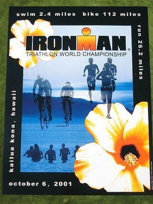 #Ironman 2001 #triathlon hawaii poster - kailua kona #marathon / original in mint,  View more on the LINK: 	http://www.zeppy.io/product/gb/2/181692448751/