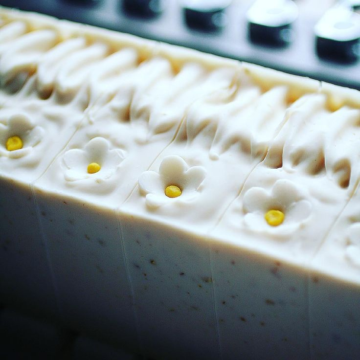 Unscented Oatmeal Soap on the cutter