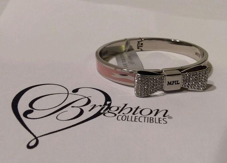 Brighton Windsor Bow Hinged Bracelet Pink JB6091 New With Tag Retail $76 #Brighton #HingedBangle