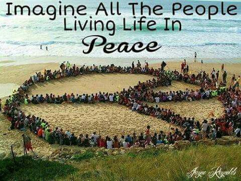 Imagine all the people living life in Peace ༺♡༻