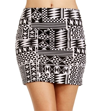 Black White Mini Skirt | Jill Dress