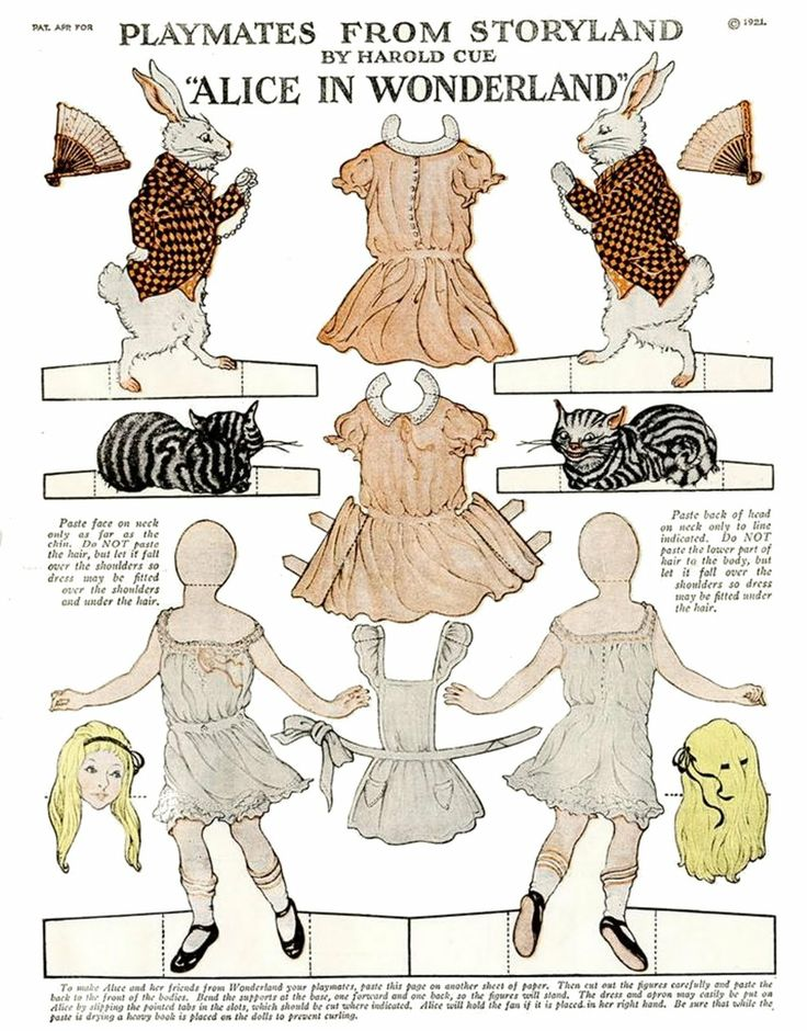 Printable, Alice in Wonderland, The American Woman Magazine, September 1921.: Alice In Wonderland, Wonderland Paper, Vintage Paper Dolls, Desktop Wallpapers, Paperdolls, White Rabbit, Paper Toys, Aliceinwonderland, Vintage Style