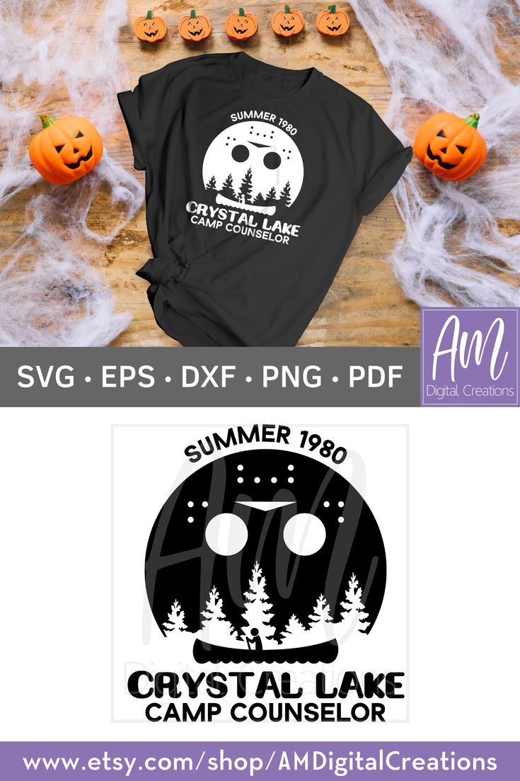 Crystal Lake Camp Counselor Friday The 13th Jason Voorhees Svg Etsy In 2020 Crystal Lake Camp Halloween Vinyl Crystal Lake