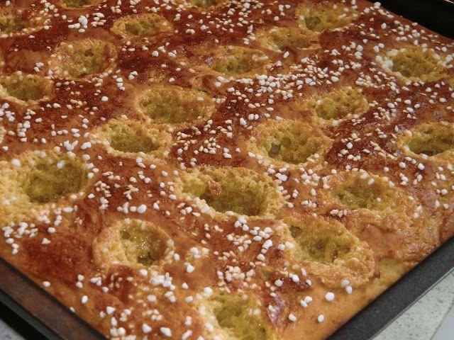 Kjerstis mat och prat: Glutenfria långpannerutor med Philadelphiaost, saffran och citroncurd
