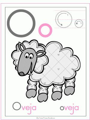 Ficha letra o oveja