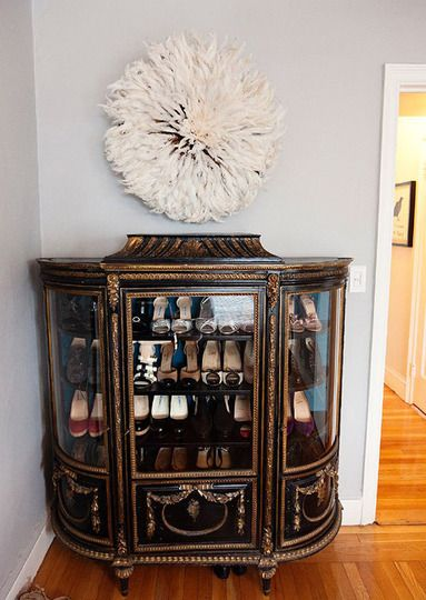 I love this piece of furniture. I would probably put something other than shoes in it, but I could definitely find something to go in there!