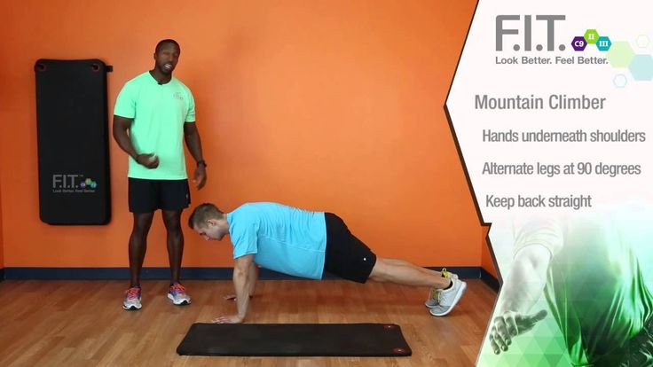 F.I.T. Exercises - Mountain Climbers http://myforeverfit.flp.com