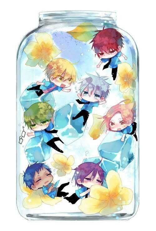 Kise Ryota Cute Wallpaper Chibi In A Glass Anime Manga Kuroko No Basket Kuroko