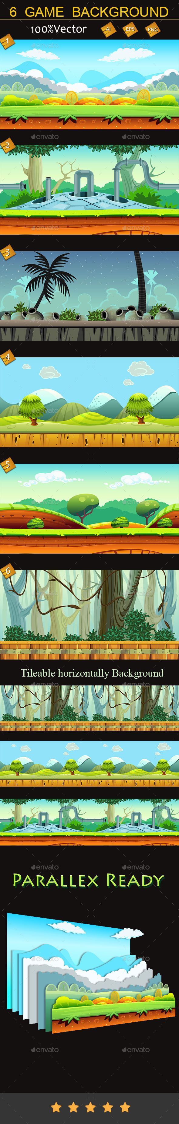6 game backgrounds You can use this background for your game application/project.   Buy Now : http://graphicriver.net/item/6-game-backgrounds/10057074?ref=graphicon