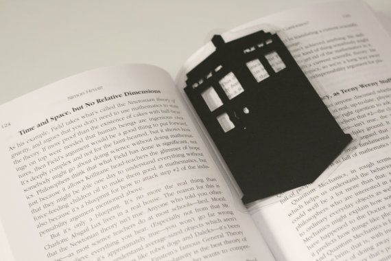 Doctor Who: The TARDIS Bookmark - Hand-cut Silhouette, Geek Bookmark, Doctor Who Bookmark, Cut Paper Bookmark