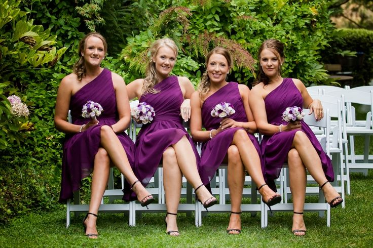 Bridesmaids in the Garden @ Chateau Dore Winery