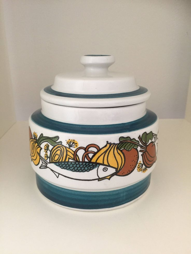 stavangerflint/ceramic/pot with lid/Norway/Norwegian by WifinpoofVintage on Etsy