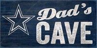 Dallas Cowboys Dad's Cave Sign