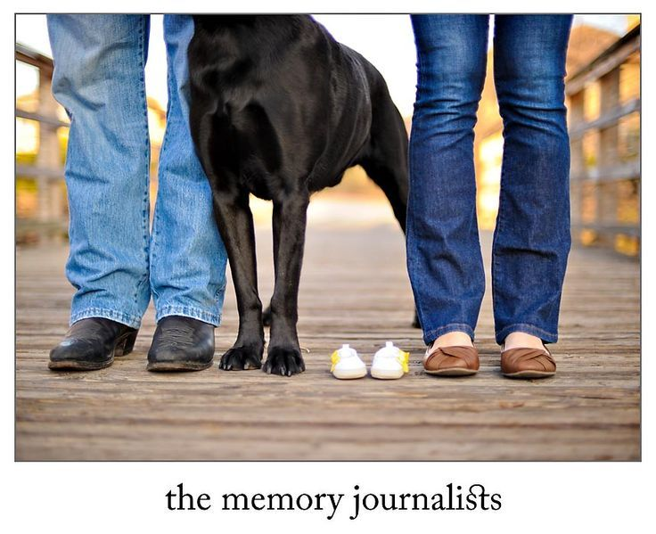 So cute! My kind of picture- include the family dog in your maternity photo.