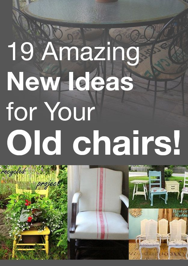 Update your old chairs into something fabulous! Here are some great inspirations!