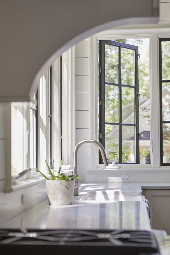 Choose black hardware for your windows for a cohesive look.