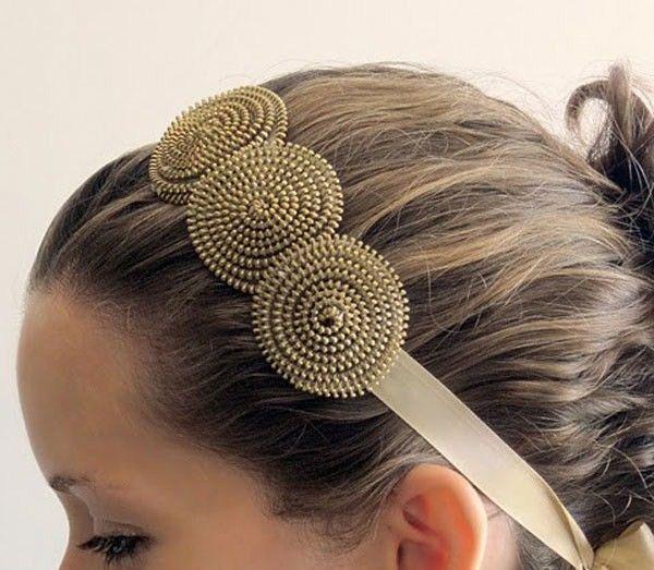 Riciclo Creativo : Riutile: Come riciclare le cerniere: una fascia per capelli