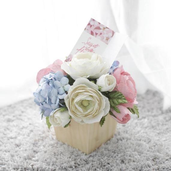 Flower DecorationFlower Wooden PotWooden Pot Flowers