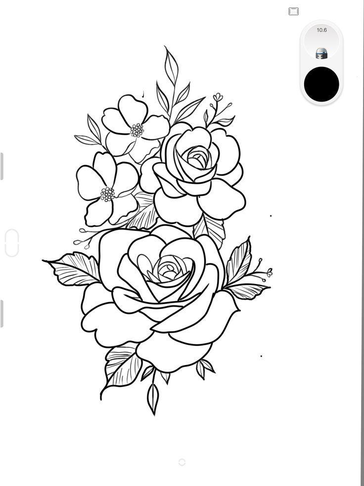 Flower Tattoos Outline Tattoo Ideas In 2020 Realistic Flower Tattoo Tattoo Stencil Outline Tattoo Outline