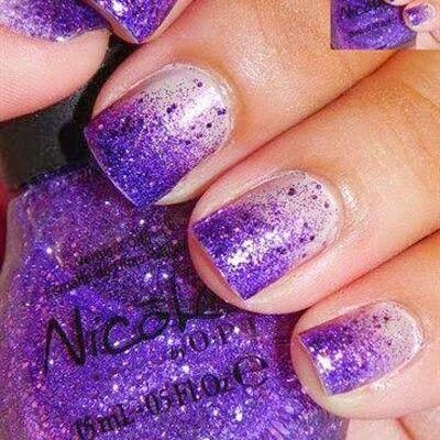 Dégradé de paillettes violettes ✨
