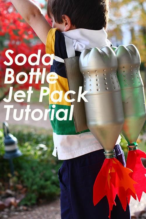 DIY Jet Pack. This tutorial is similar to what I did for G's astronaut costume for those who asked.