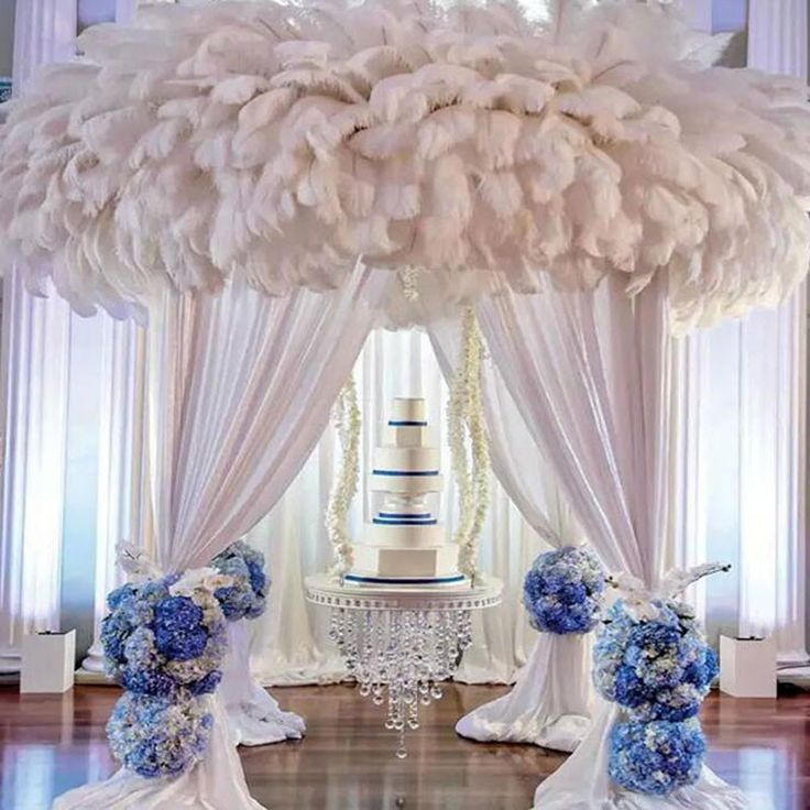 10pcs 16-18 Inch 40-45cm Natural Ostrich Feathers Party Wedding Decoration White - Tmart