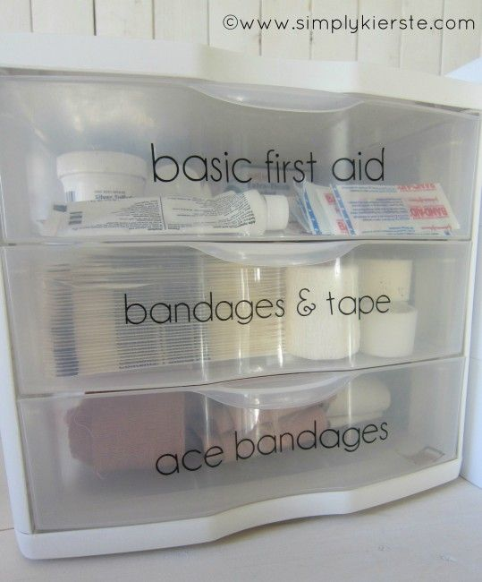 Great vinyl lettering idea for your medicine cabinet