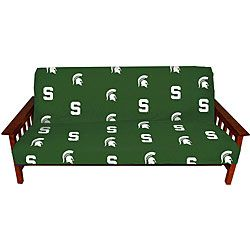 Show off your favorite team logo in style with this Michigan State University cover Traditional futon cover is crafted of 100-percent cotton duck 200 thread count fabric Futon cover offers a sturdy ye