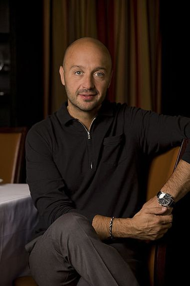 "Joe Bastianich restaurateur and judge on ""Master Chef""...beautiful & arrogant- perfectly blended. A toxic love concoction...lol"