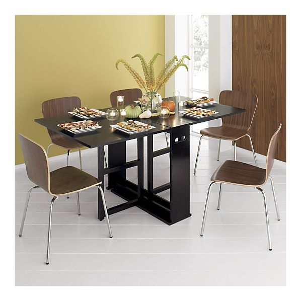 crate and barrel span white gateleg table 2