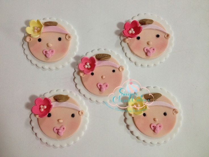 baby toppers, baby toppers with headbands, cute toppers By http://sugarcloudcakes.com.au