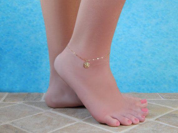 Sand Dollar Anklet Sand Dollar Ankle Bracelet Sand Dollar