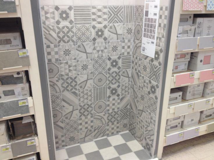 22 best tile images on Pinterest Flooring tiles, Tiles and Flooring - carrelage salle de bain petit carreaux