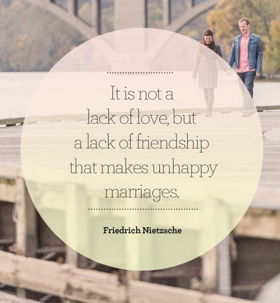 friendship = happy marriage