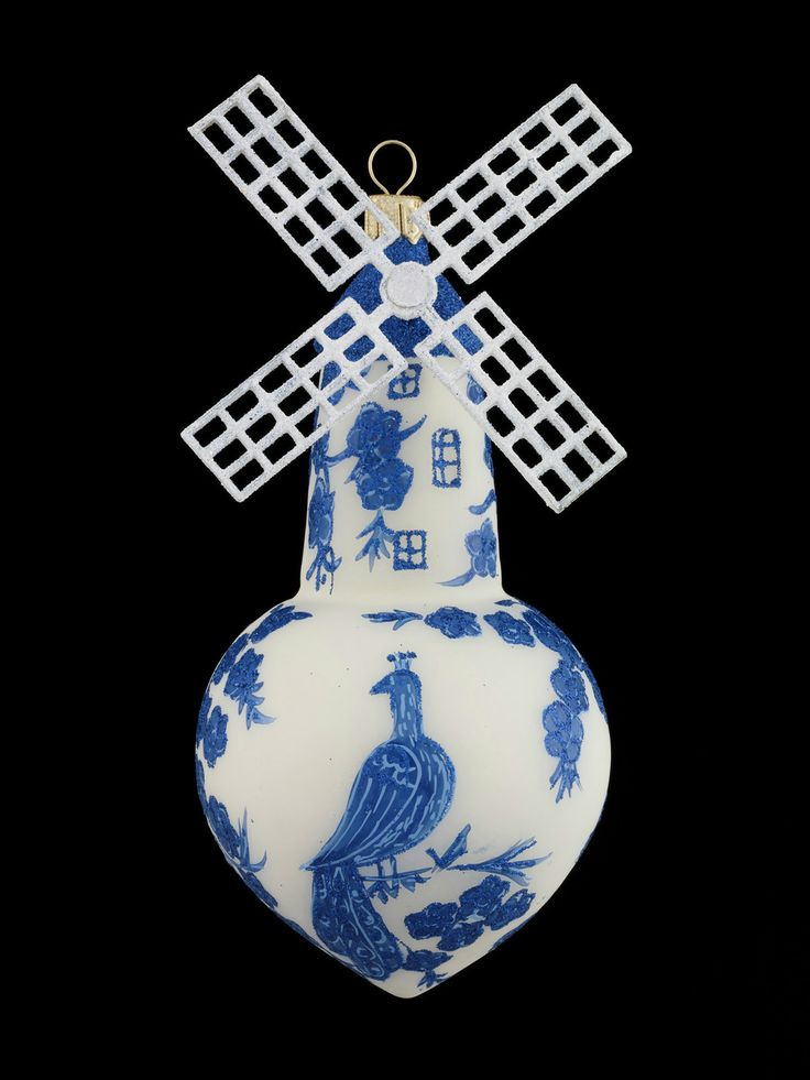 Delft Windmill Ornament