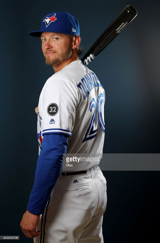 Josh Donaldson #20 of the Toronto Blue Jays poses for a portrait on February 22, 2018 at Dunedin Stadium in Dunedin, Florida.