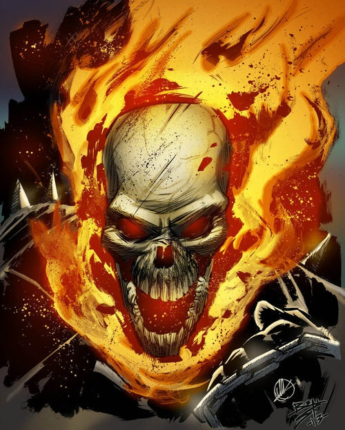 Marvel Comics: Ghost Rider the spirit of vengeance .