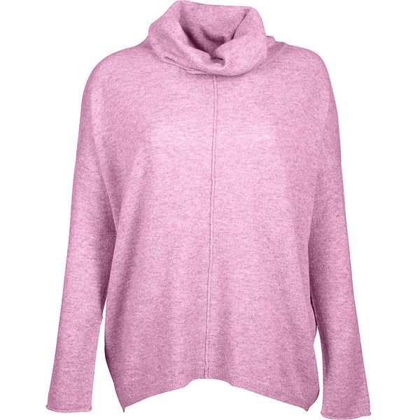 Kinross Cashmere Slouchy Cowl Popover - S - Orchid - Women's Sweaters (4,060 EGP) ❤ liked on Polyvore featuring tops, purple, pink top, purple top, slouchy tops and cowl top
