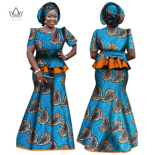 Dasheki African Women Clothing  African 2 piece skirt and top set