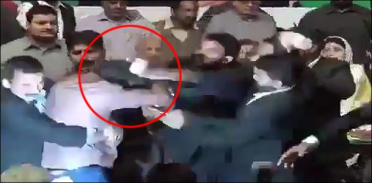 PMLN worker beaten up for trying to shake hand with Nawaz