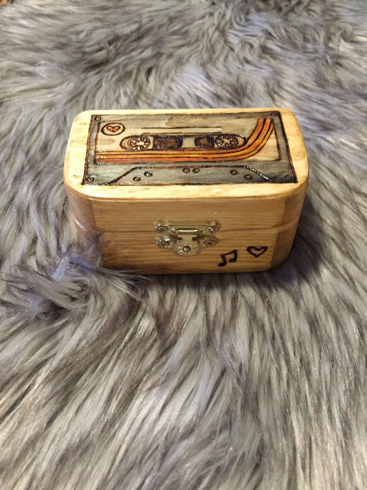 Cassette tape wood box