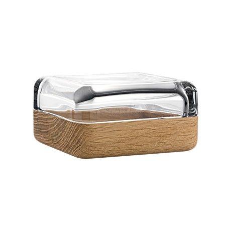 iittala Vitriini Box #glass #wood #combination #design #materials #mixture #bowl #container #lid #housewares #homegoods