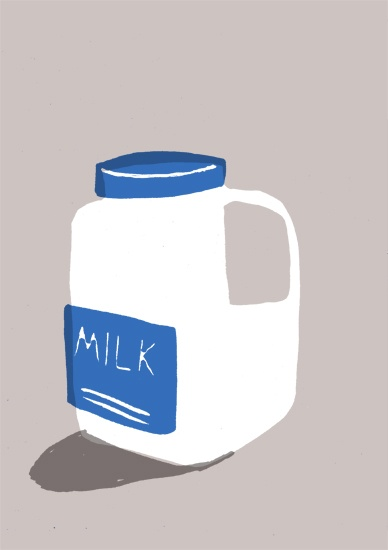 thomas slater makes simple object look greatSimple Object, Food Illustration, Milk Illustration, Thomas Slater, Kitchens Art, Illustration Milk, Illustration Inspiration, Illustration Design, Art Illustration